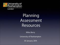 Computing: planning, assessment and resources by Miles Berry via slideshare Assessment, Presentation, Teacher, How To Plan, Professor, Business Valuation