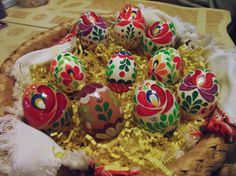 Hand painted Hungarian Matyó Easter Eggs by TULIPanFolkArt on Etsy, $15.00