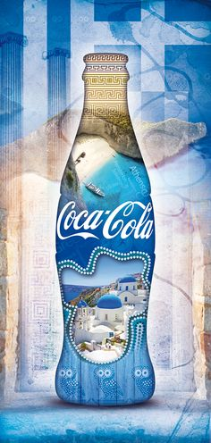 The creative idea transforms the bottle's design of Coca-Cola into an explosion of sensation that can be translated in summer, taste, good food, sunset and Greek's landscapes.The graphic on the Coca-Cola's bottle has been adapted on Calendar, Recipe Book…