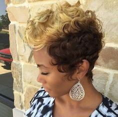 short+curly+blonde+and+brown+hairstyle+for+black+women
