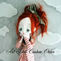 Custom Order for a jointed Art Doll. via Etsy.