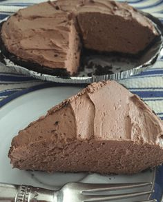This quick and easy No-Bake Whipped Chocolate Oreo Cheesecake offers a rich chocolate mousse-like filling in an Oreo crust.