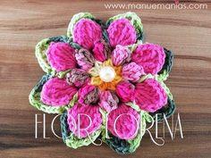 Aprendendo a Fazer Flores em Crochê - FLOR CHARME - YouTube