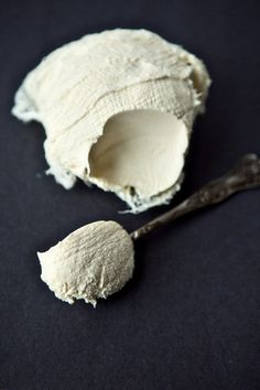 Homemade mascarpone cheese.
