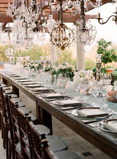 table arrangement, rustic glam