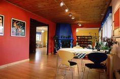 Bright coloured walls