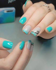 Short Nail Manicure, Manicure E Pedicure, Red Acrylic Nails, Simple Acrylic Nails, Dream Nails, Love Nails, Pink Nails, Stylish Nails, Trendy Nails