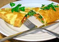 Pancakes With Vegetables And Eggs