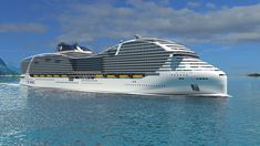 Ships belonging to the World Class from MSC Cruises will be able to hold more passengers than any other cruise ship. A rendering is shown in this image. MSC CruisesSkift Take: MSC Cruises continues to Puerto Limon, Msc Cruises, Yacht Cruises, Sailing Cruises, Cabo San Lucas, Cruise Travel, Cruise Vacation, Travel 2017, Vacations