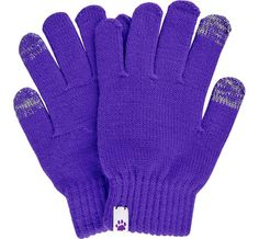 Purple Paw Touch Screen Gloves - Every Purchase Funds Food and Care for Rescued Animals.