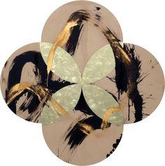 Max Gimblett 'Wild' New Zealand Art, Nz Art, Abstract Paper, Colour Field, Paper Artwork, Shape Art, Paper Artist, Mark Making, Quatrefoil