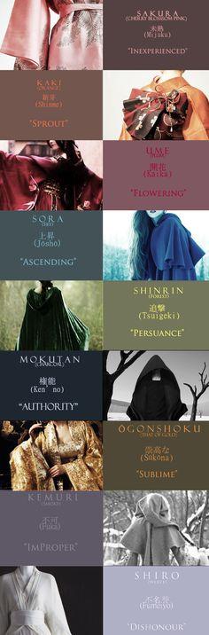 Robes of #Mahoutokoro #HarryPotter The caps respectively say Color (i.e Sakura)…