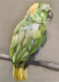 "Daily Paintworks - ""Amazon Parrot"" - Original Fine Art for Sale - © Gary Bruton"