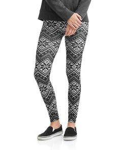 37bcd0d564 No Boundaries Juniors' Seamless Holiday Christmas Ankle Leggings, Girl's,  Size: XL