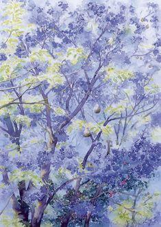Jacaranda Tree - watercolour by Dorothy Pavey