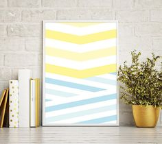 Laminas, Laminas Decorativas, Summer Print, Beach, Minimal Print, Geometric Print, Geometric Abstract, Colorful Print, Stripes, Modern Art