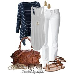 """White, Navy, Gray"" by dlp22 on Polyvore"