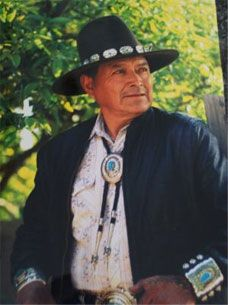 Tommy Singer. He is a famous Navajo Silversmith. You can see his work here: http://www.treasuresofthesouthwest.com/tommy-singer-jewelry.html