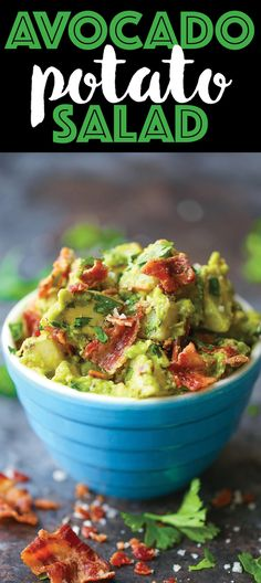 Avocado Potato Salad - The BEST potato salad hands down! A crowd-favorite that's so creamy using fresh avocado and NO MAYO. It's healthier and tastier! Make with avocado ranch dressing Avocado Recipes, Lunch Recipes, Salad Recipes, Dinner Recipes, Cooking Recipes, Healthy Recipes, Avocado Dishes, Brunch, Soup And Salad