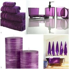 colore dell'anno 2014: Radiant Orchid   #Pantone  #RadiantOrchid  #coloroftheyear #purple  #bathroom #design