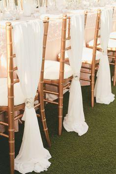 Elegant Chiffon-Draped Chiavari Chairs | Onelove Photography https://www.theknot.com/marketplace/onelove-photography-danville-ca-223204 | Kat Keane Weddings