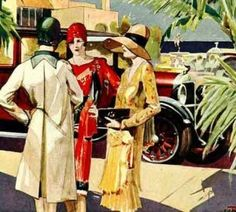 Art Deco Style Fashion-Flappers, Screen Sirens & Sporty Girls