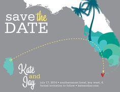 Florida  Save the Date  Key West  Destination by katleminvitations, $15.00