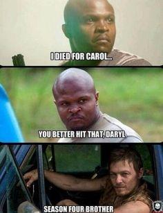 Daryl en couple avec Carol dans la saison 4 de The Walking Dead ?