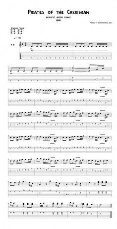 Pirates of the Caribbean theme guitar tabs acoustic - pdf acoustic guitar sheet .- Pirates of the Caribbean theme guitar tabs acoustic – pdf acoustic guitar sheet … Pirates of the Caribbean theme guitar tabs acoustic -… - Ukulele Tabs Songs, Guitar Tabs And Chords, Easy Guitar Tabs, Guitar Chords For Songs, Guitar Sheet Music, Guitar Solo, Acoustic Guitar Chords, Guitar Riffs, Fender Acoustic