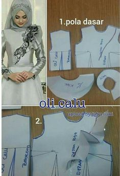 Best 12 Best Embroidery Patterns Hand Dress Ideas – Page 714876140833370134 – SkillOfKing. Frock Patterns, Gown Pattern, Dress Making Patterns, Easy Sewing Patterns, Clothing Patterns, Embroidery Patterns, Dress Brokat, Sewing Blouses, Moslem Fashion