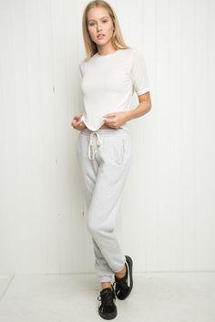 Brandy ♥ Melville   Rosa Sweatpants - Bottoms - Clothing