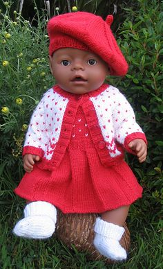 50aa8995167 $5 Ravelry: Morgan Baby Born Size doll clothes pattern by Miss Meggy  Designs Hæklede Dukker