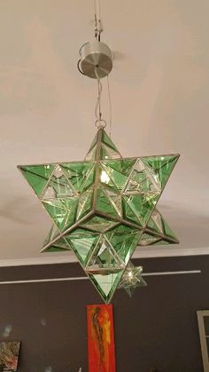Star pendant light Handmade ceiling light, perfect for dining and living areas or as a kitchen pendant Stained Glass Light, Stained Glass Designs, Stained Glass Patterns, Glass Pendant Light, Glass Pendants, Star Pendant, Artistic Installation, Handmade Lamps, Glass Artwork