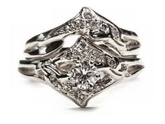 double dolphin wedding set dolphin diamond engagement ring - Dolphin Wedding Rings