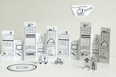 Paper City--  free downloads, includes Paris and Seattle! Lots of other fun printables and things like spelling/coloring worksheets. Love this site!