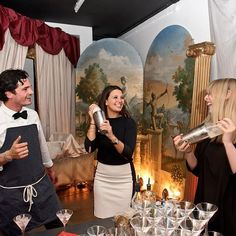 Mid cocktail making. Guests getting involved @leadinghotelsoftheworld immersive event at Carousel #experiential #popup #marylebone #london #bespoke