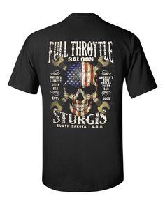 FTS Red, White, & Blue Skull Sturgis Rally Shirt t-shirt – Full Throttle…