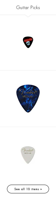 """""""Guitar Picks"""" by mysticgamer ❤ liked on Polyvore featuring music, accessories, random, instruments, fillers, blue fillers, blue, guitars, white fillers and white"""