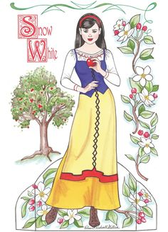 (⑅ ॣ•͈ᴗ•͈ ॣ)♡                                                             ✄Paper Doll Snow White 1