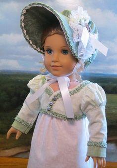 "Afternoon Elegance for Caroline Abbott 1812 Regency Era American Girl Doll 18in""   eBay. Sold 2/2/13 for $68.34."