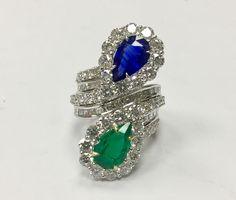 @Arnav beautiful combination of Sapphire, Emerald and diamond. Ring Arnavintl.com