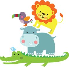 Imagens Safari para montagens digitais Art Drawings For Kids, Art For Kids, Animal Pictures, Cute Pictures, Micro Creche, Baby Animal Nursery, Dibujos Cute, New Baby Cards, Jungle Theme