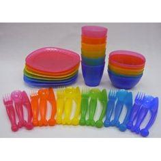 IKEA KALAS 36pc Kids Childrens Set Cups Bowls Plates Flatware Play BPA FREE NEW