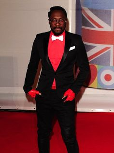 Will.I.am in a striking suit combination at the BRIT Awards 2012