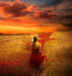Woman in #red