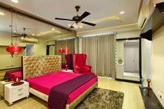 Bed design by Meenu Agarwal Wardrobe Design Bedroom, Master Bedroom Design, Bedroom Designs, Bedroom Ideas, Bed Design, House Design, Bedroom Furniture, Furniture Design, Wall Treatments