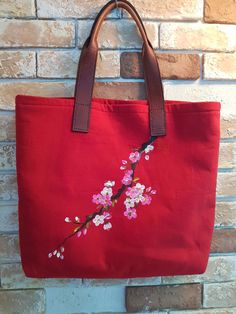 Acrylic Painting Flowers, Handmade Handbags, Hand Painted, Sewing, Tote Bags, Blog, Crafts, Craft Ideas, Paintings
