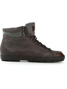 Santoni mountain panelled cap boots