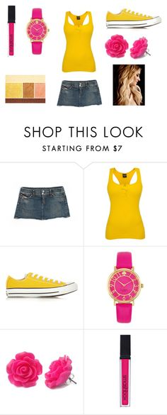 Summer weather in Fall by seventeen34 on Polyvore featuring Diesel, Converse, Kate Spade, Lancôme and Smashbox