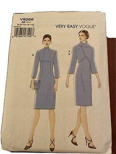 V9266 Vogue Sewing Pattern First Lady Vintage Look Dress Jacket Sz 6-14 New UC   eBay Jacket Dress, Shirt Dress, Vogue Sewing Patterns, Vintage Looks, Dresses For Work, Lady, Jackets, Shirts, Fashion